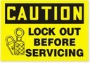 CAUTION Lock Out Before Servicing