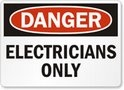 DANGER Electricians Only